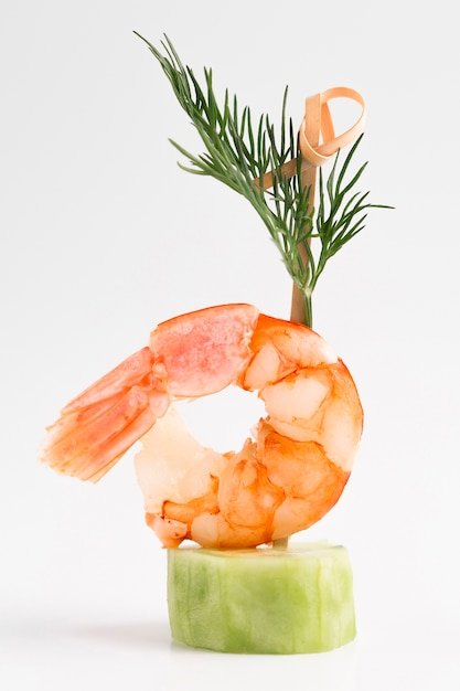 Elegant meal with shrimp Free Photo