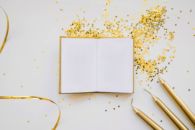 elegant new year background with book free photo