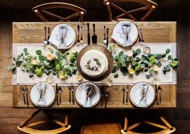 Элегантный ресторан сервировки стола для приема Бесплатные Фотографии
