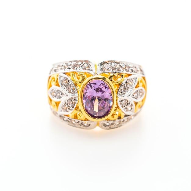 Elegant ring with purple gemstone Free Photo