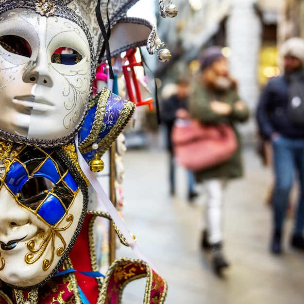 Elegant venetian carnival composition Free Photo
