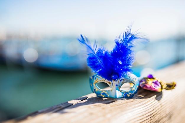 Elegant venetian carnival composition Free Photo