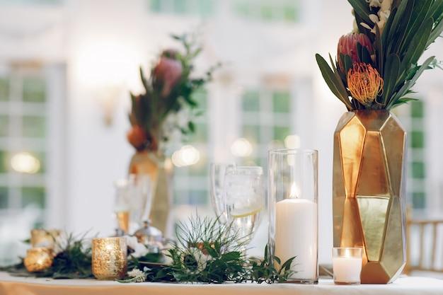 Elegant wedding candles Free Photo