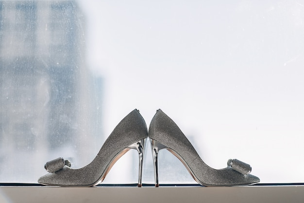 Elegant wedding shoes Free Photo
