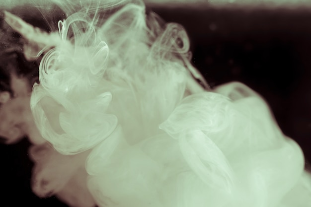Elegant white smoke on black screen Free Photo