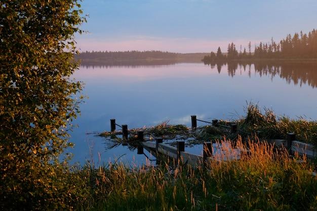 Elk island's last light Free Photo