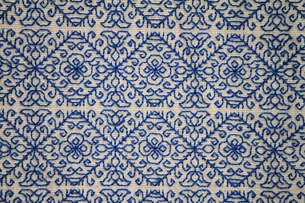 Emboidery diamons in blue Premium Photo