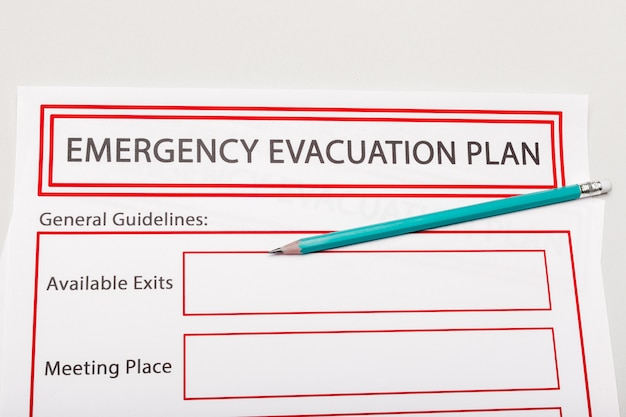 Emergency evacuation plan Premium Photo