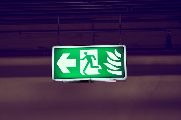 Emergency exit sign Free Photo