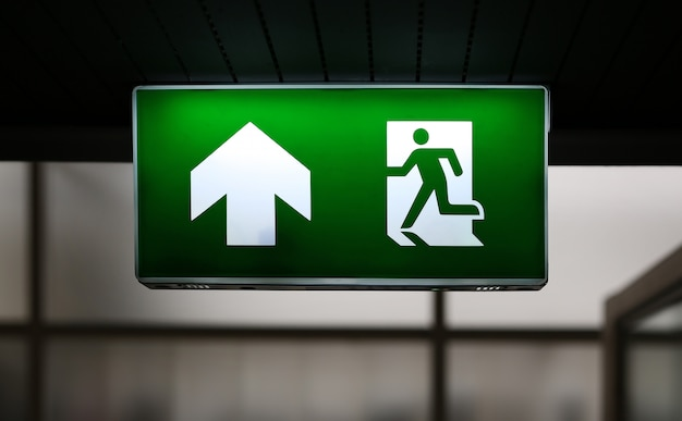 Emergency exit sign Premium Photo