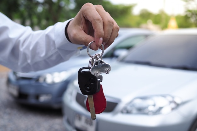 Employee car mortgage for a loan Premium Photo
