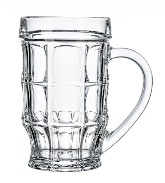 Empty beer glass on white background Premium Photo