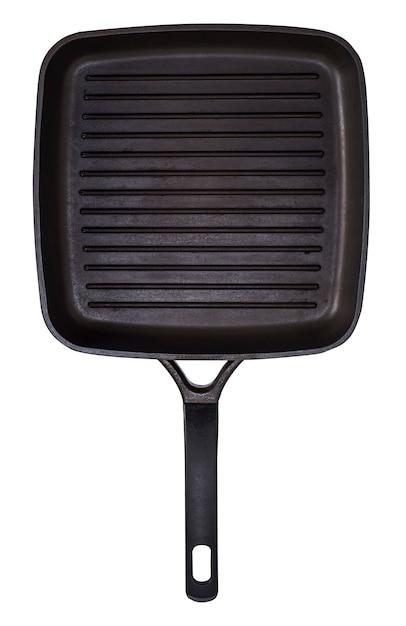 Empty black square grill pan Premium Photo