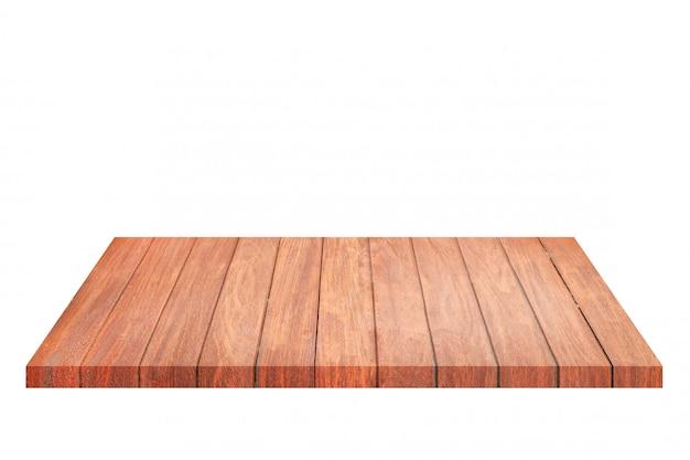 빈 갈색 오래 된 나무 선반입니다. 제품의 몽타주 프리미엄 사진