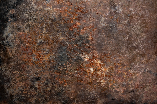 Empty brown rusty surface or rusty metal texture. Premium Photo