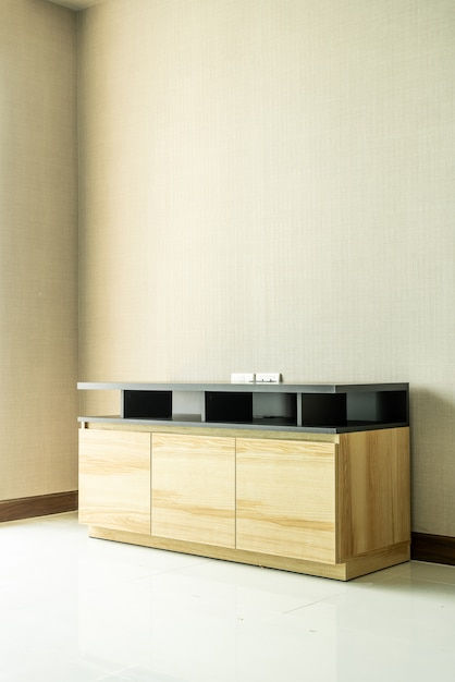Empty cabinet in room interior Premium Photo