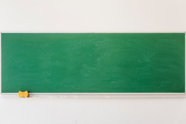 Empty chalkboard in classroom in school Free Photo
