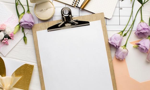 Organizzatore di matrimoni di documenti appunti vuoti Foto Gratuite