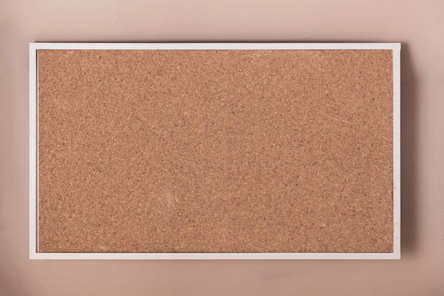 Empty cork board with frame background. Premium Photo