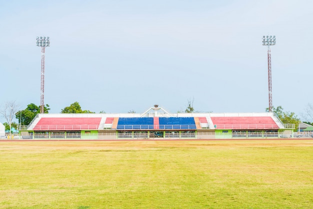 Empty football stadium Premium Photo