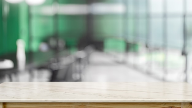 Empty marble desk with blurred background Premium Photo