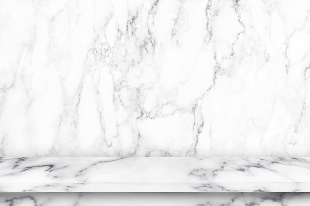 Empty marble table with marble texture Premium Photo