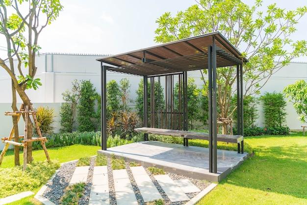 Empty pavilion in garden Free Photo