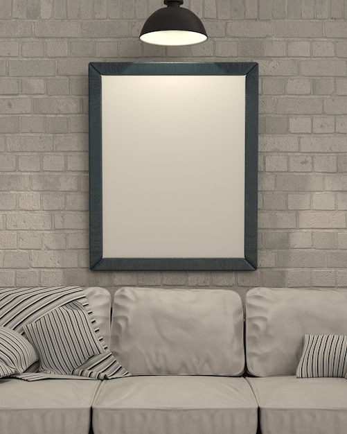 empty picture frame on wall photo