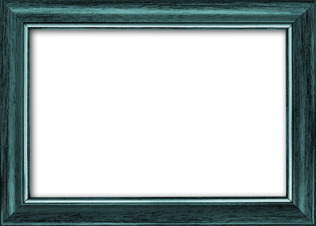 Empty picture frame with a free place inside, isolated on white Premium Photo