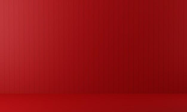 空の赤い部屋。 3 dのレンダリング。 Premium写真