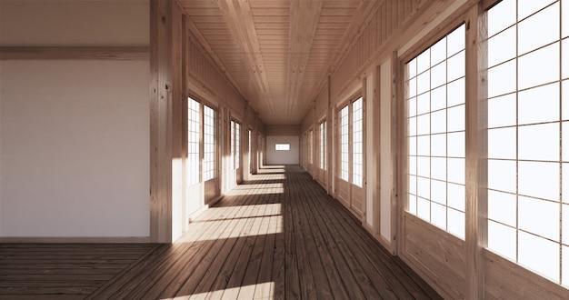 Empty room tatami mat ing the most beautiful Premium Photo