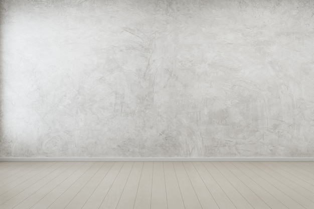 Empty room with concrete wall in modern house. Premium Photo