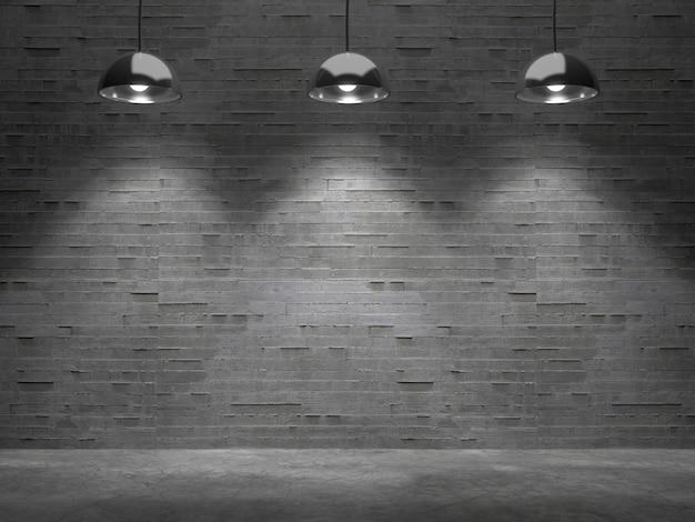 Пустая комната с светлым пятном, бланк для продукта showcase.3d рендеринга. Premium Фотографии