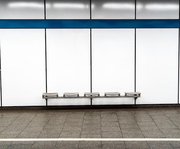 Empty seats in the munich subway station Free Photo