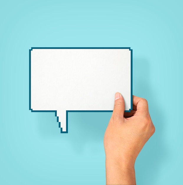 Empty speech bubble Premium Photo