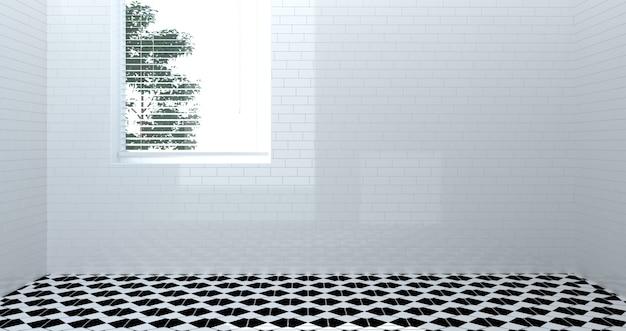Пустой туалет, душ, интерьер ванной комнаты | Премиум Фото