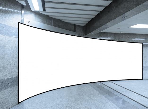 Empty white billboard mockup background Premium Photo