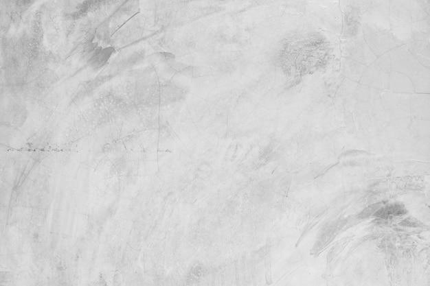 Пустая белая бетонная стена текстура и фон Premium Фотографии