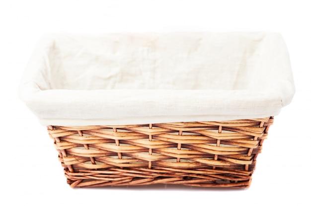 Empty wicker basket Free Photo