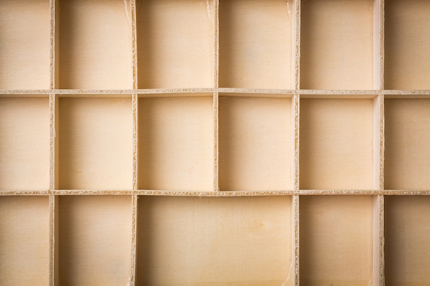 Empty wooden box with compartments Free Photo
