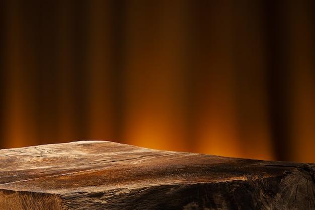 Пустой деревянный стол Premium Фотографии