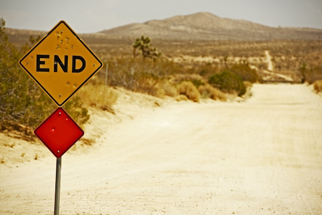 End traffic sign Free Photo