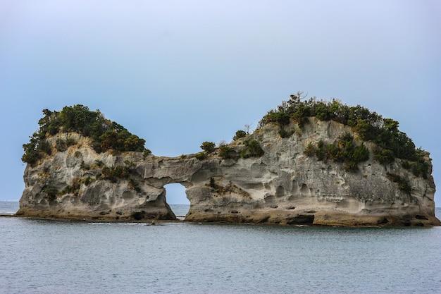 A engetsuto island like a eyes glass shape at shirahama wakayama japan. Premium Photo