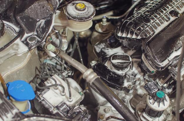 Engine detailing Premium Photo