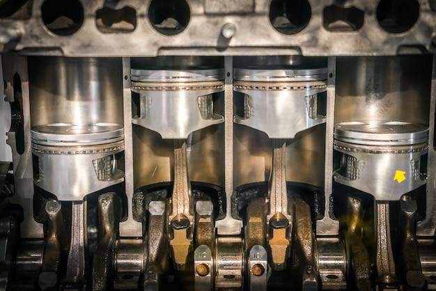 Engine piston cross section Free Photo
