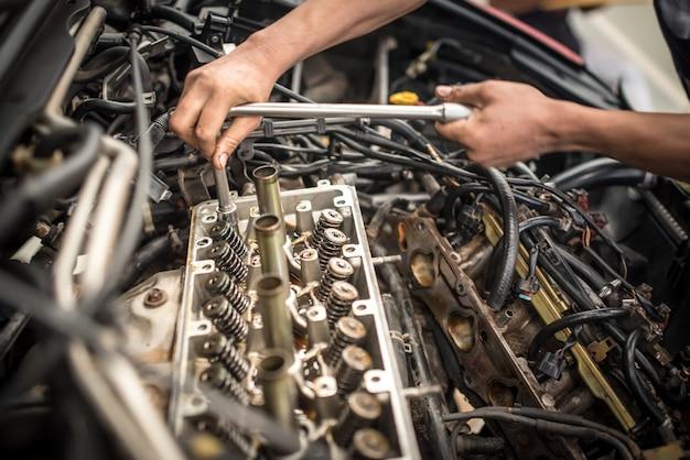 Engine valve car maintenance. a deposit on a piston, a large run a long service life Premium Photo
