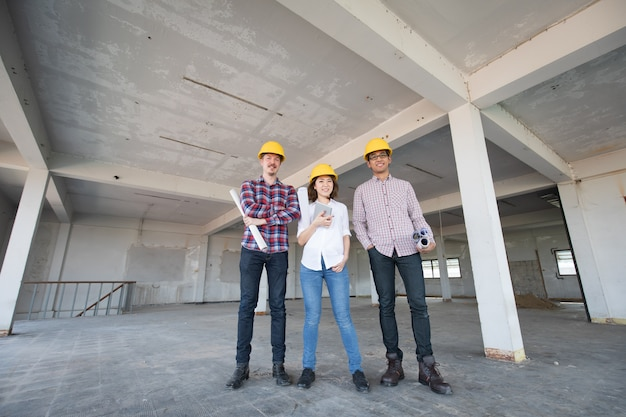 Engineer team Premium Photo
