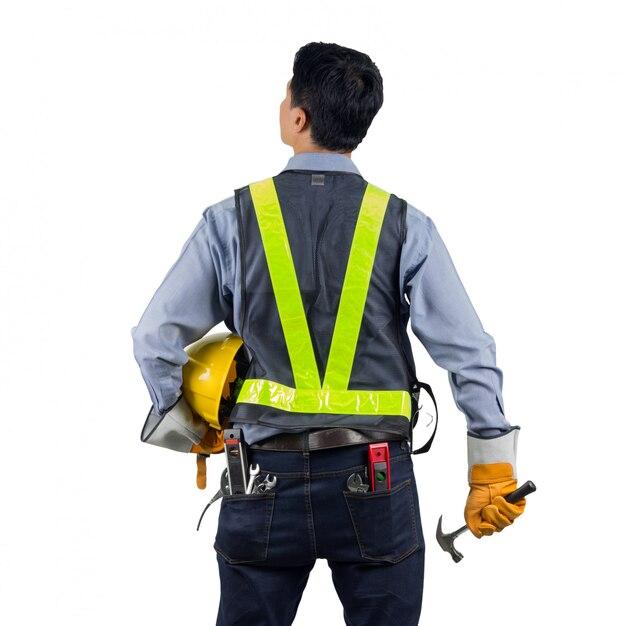 Engineer behind with overload tool Premium Photo