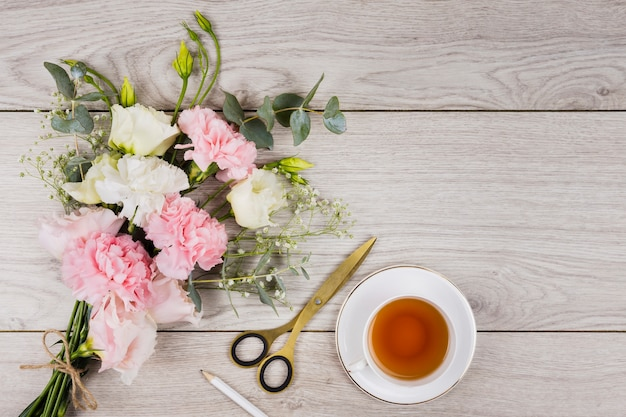 English tea on wooden background Free Photo