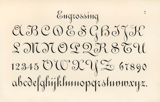 Engrossing fonts Free Photo